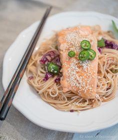 Cold Salmon & Noodle Salad