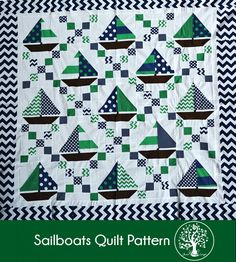 sailboats quilt tutorial - irish chain and sailboat blocks