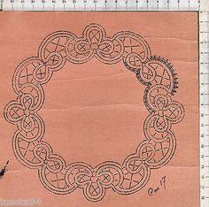 5739a*- Pizzo di Cantù - cartina per ricamo a tombolo - antica usata, vedi foto