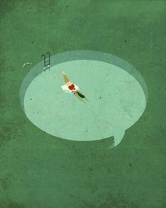 Social Network - Editorial Illustration by Emiliano Ponzi