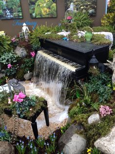 Garden display by Warwick NY Koi Ponds