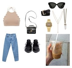 summer time coffee by marssysl on Polyvore featuring Pull&Bear, Marysia Swim, Alexander Wang, Monki, Vince Camuto, Givenchy, Casio and Linda Farrow