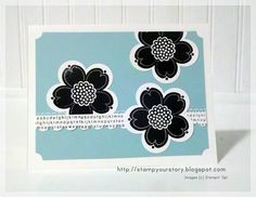 Posy Punch/Pool Party Set of 3 Cards by bazzill_babe - Cards and Paper Crafts at Splitcoaststampers