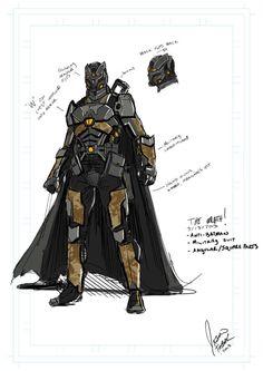 Closer look on Wrath the anti-Batman.