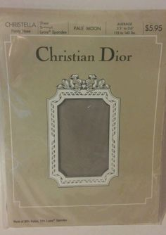 Christian Dior Vintage Christella Pantyhose Pale Moon Size Average Sheer Support | Clothing, Shoes & Accessories, Women's Clothing, Hosiery & Socks | eBay!