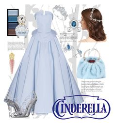 """A Night at the Ball: Inspired by Cinderella"" by princess-t16 ❤ liked on Polyvore featuring Graham & Brown, Disney, Jennifer Behr, Christian Siriano, Valentino, Dolce&Gabbana, Clé de Peau Beauté, Christian Louboutin and Marc Jacobs"