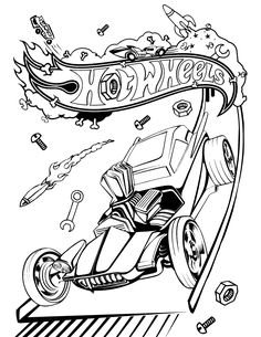 Hot Wheels Coloring Pages Games #4