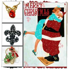 I saw Mommy Kissing Santa Clause after she opened her #vintage #jewelry #gifts  Day 4 #VintageFallFashion #photochallenge #giftideas #giftsforher #christmas