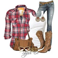 similar to what is in my closet...less the earrings and purse which are not necessary