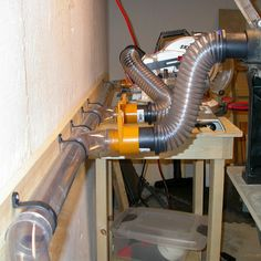 Clear ducting for dust collection system. - brilliant
