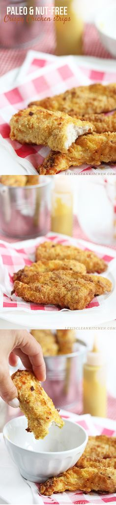 The Best Crispy Chicken Strips (Paleo, Nut Free, Grain Free, Gluten Free)