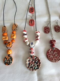 Ceramic necklace  By rosy
