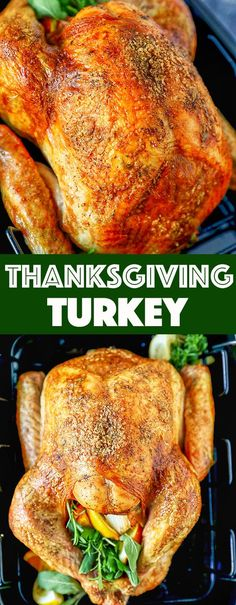 This classic Thanksgiving Turkey Recipe is easy to make and absolutely delicious. Crispy golden brown skin and flavorful turkey meat, spread homemade garlic herb butter under the skin for a perfectly roasted turkey that will be the star of your Thanksgivi Classic Thanksgiving Turkey Recipe, Thanksgiving Recipes, Holiday Recipes, Dinner Recipes, Classic Turkey Recipe, Delicious Turkey Recipe, Holiday Meals, Thanksgiving Snacks, Thanksgiving Traditions