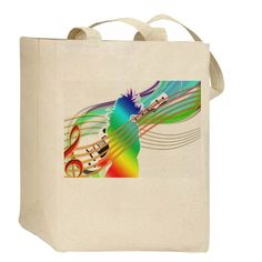 Music Therapy Canvas Tote Bag