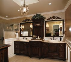 Kristi @ Addicted 2 Decor.. Fully remodeled bathroom with custom cabinets