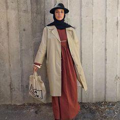 Stylish Hijab, Hijab Chic, Street Hijab Fashion, New Trends, Duster Coat, Hijab Styles, Street Style, Hijabs, My Style