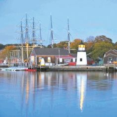 A view of Mystic Seaport, one of Connecticut's many treasures and a tourist destination.
