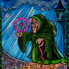 """Stained glass from """"Beauty and the Beast"""""""