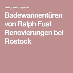 Badewannentüren von Ralph Fust Renovierungen bei Rostock