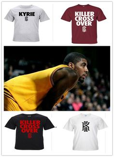 ded0b3aefa2 2015 Mens Cleveland CAVS fashion Kyrie Irving T shirt sportwear 100% cotton  t shirt,