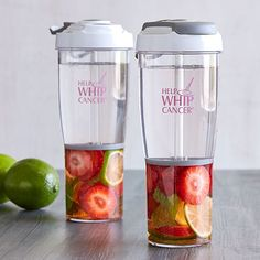 HELP WHIP CANCER® INFUSION WATER BOTTLE. For each purchse $1 will be donated to the American Cancer Society® for breast cancer research and early detection programs.