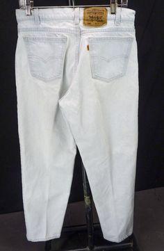 LEVIS 550 Acid Wash Denim Jeans Relaxed Tapered Mens 33x30 Vintage Orange Tab #Levis