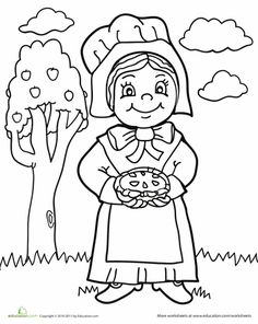 pilgrim boy and girl coloring pages - 1000 images about fall thanksgiving on pinterest