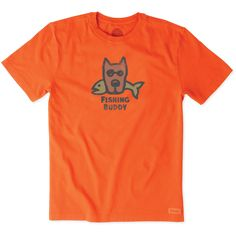 Men's Fishing Buddy Crusher Tee | Life is Good® Official Site