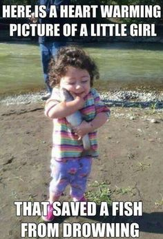 The fish that lived // funny pictures - funny photos - funny images - funny pics - funny quotes - Funny, Jokes, Humor Funny Pictures With Captions, Picture Captions, Funny Photos, Hilarious Pictures, Funny Pictures Of Kids, Baby Pictures, Animal Pictures, Meme Pics, Smile Pictures