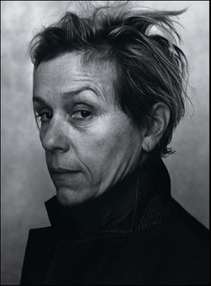 Frances McDormand, photographed by Annie Leibovitz in New York City. for Vanity Fair January 2018 Three Billboards Outside Ebbing Missour