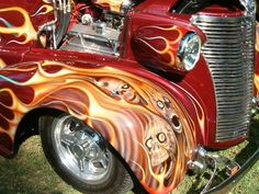 Hot Rod Flames | Hot Rod with Skulls and Flames by ~barn9 on deviantART