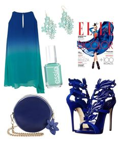 """blue"" by marsia-fashion on Polyvore featuring Giuseppe Zanotti, Decree and Essie"