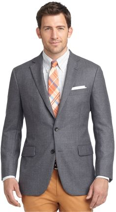 $249, Grey Wool Blazer: Brooks Brothers Madison Fit Solid Wool Sport Coat. Sold by Brooks Brothers. Click for more info: http://lookastic.com/men/shop_items/178023/redirect