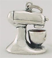 Stand Mixer Sterling Silver Charm ~ cute gift for someone who bakes/cooks