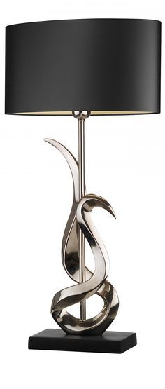 just love this silver stylized table lamp, and the black shade is perfect!