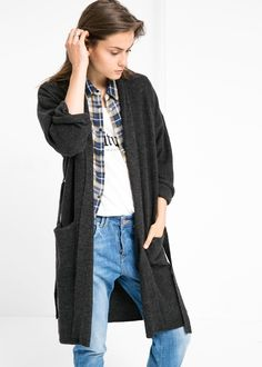 Wool-blend long cardigan | Mango