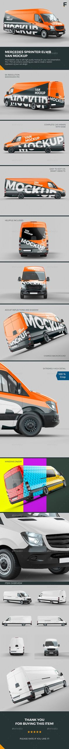 Buy Mercedes Sprinter Van Mockup by on GraphicRiver. Delivery Van Mock up Mercedes Benz Delivery Van Mock up with extra long wheel base. This realistic Van Mock up helps . Monster Truck Bedroom, Monster Truck Birthday, Monster Trucks, Sprinter Van, Mercedes Sprinter, Old Pickup Trucks, New Trucks, Monster Truck Drawing, Truck Tattoo