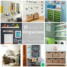 Lots of ideas to help organize all of those kids toys! via Clean and Scentsible