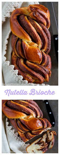 Warm fluffy brioche braided between chocolate hazelnut spread.