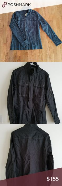 Jeremiah Men's Black Jacket, Small Jeremiah American Legacy Men's Black Jacket, Brand New with tags attached, never been worn. Size small. Full zipper and snaps to close jacket with overlaying fabric. Four snap-secure pockets (two hand pockets and two breast pockets) as well as a small zippered pocket on the upper left sleeve. Button on each cuff. Warm interior collar lining. Extra button attached to inside tag. Make an offer on this stylish jacket! Jeremiah Jackets & Coats