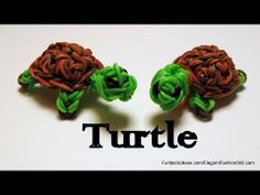 Rainbow Loom 3D TURTLE charm, Designed and loomed by ElegantFashion360. Click photo for YouTube tutorial. 05/09/14.