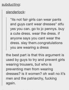 Feminist Elizabethan: Feminist Meme: Wear the Dress