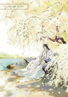 Akio under Amaya's plum tree....pretty much just it!