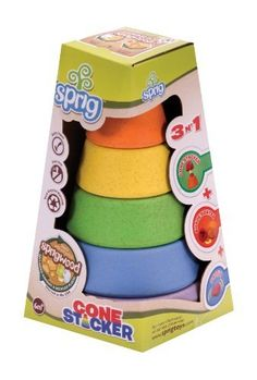 Sprig Cone Stacker by Sprinttech. Save 8 Off!. $13.79. From the Manufacturer                Sprig Toys are inspired by our collective desire to keep kids active and the planet healthy. Team Sprig is dedicated to infusing creativity, smart design, quality manufacturing, product satisfaction and responsible business practices into a superior line of fun, kid-powered toys.                                    Product Description                Sprig Toys, Inc., is a company dedicat...