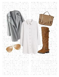 brown and grey by emilia-fernandez-1 on Polyvore featuring moda, MANGO, Topshop, Oakley, women's clothing, women's fashion, women, female, woman and misses