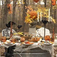 Halloween Party in the Wood created by Stylist Karin Lidbeck! @klidbeck