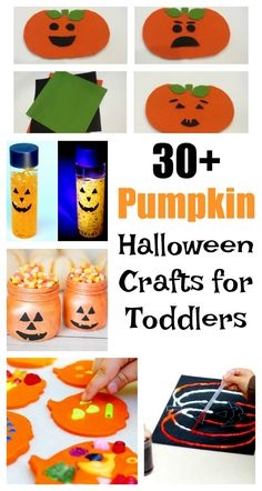 Need some easy and simple pumpkin Halloween crafts for your toddlers? These pumpkin Halloween craft ideas are also great for preschoolers!