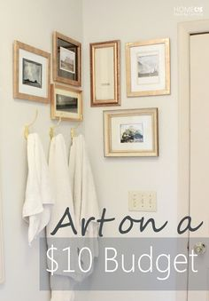 Clever ways to create an art grouping on a tiny budget.