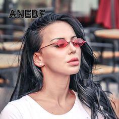 1da23bceed2ed ANEDF Luxury Vintage Oval Sunglasses Women Brand Designer Sun Glasses Retro  Small Red Ladies Sunglasses VU400 Eyewear Oculos