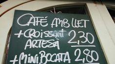 """Café"" porta accent obert: Cafè"